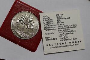 IRAK 250 FILS 1970 FAO WITH COA B36 #Z2219