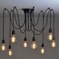 Edison Industrial Loft Spider Chandelier Pendant Ceiling Light Lamp 8 Head DIY