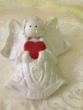 Love Angel Cherub With Heart Wall Pocket Hanging Vase Planter Ceramic