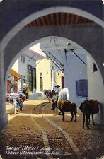 Br100350 tanger morocco une rue donkey types folklore africa
