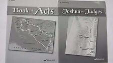 A BEKA~JOSHUA AND JUDGES~BOOK OF ACTS~ TEACHER TEST KEY LIKE NEW 2 PIECES