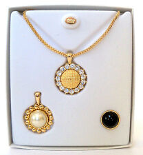 Nolan Miller Interchangeable Necklace Glamour Collection NIB Swarovski Pearl