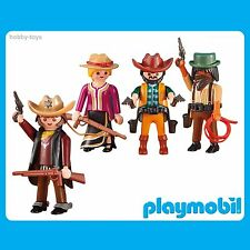 * Playmobil History * Wild West Sheriff & Cowboys/Girl * New Sealed in Packet *