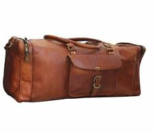 Handmade bag Leather duffel Men travel weekend Vintage Retro Genuine lightweight