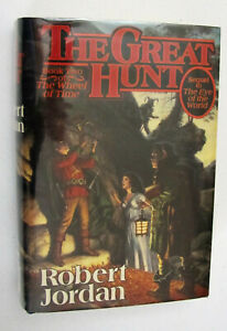 Robert Jordan, THE GREAT HUNT, signed 1st edition & printing w/dustjacket