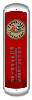 CLASSIC CHEVROLET CORVETTE HEAVY DUTY USA MADE METAL ADVERTISING THERMOMETER