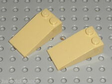 LEGO Tan Slope brick ref 30363 / set 10199 8061 7627 7297 7477 7298 / 2 pieces