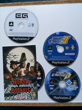 Bundle Lot Lightgun GCON Sony PS2 Games Time Crisis 2 +3 Ninja Assault Endgame