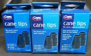 Carex Cane Tips A725-11, Set of 2 - Gray - Free Shipping