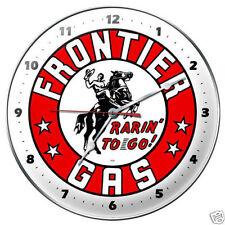 Frontier gas gasoline gasolina Retro Vintage reloj reloj de pared taller blechuhr Clock