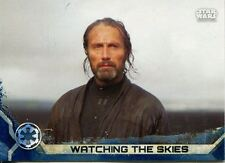 Star Wars Rogue One Series 2 Blue Base Card #2 Watching the Skies