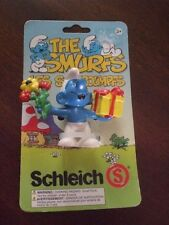Smurf w/ Flowers and Gift Box NEW on Card