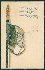 Militari Reggimentali VI Lancieri di Aosta cartolina XF2144