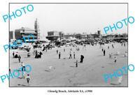 OLD LARGE PHOTO GLENELG BEACH ADELAIDE SOUTH AUSTRALIA c1900