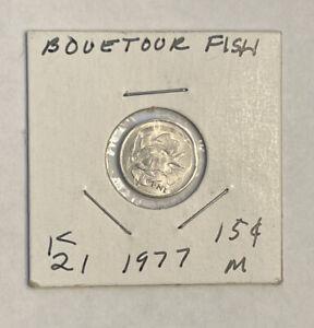 1977 1 Cent Republic of Seychelles Coin - Boueteur Fish
