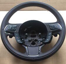Genuine Jaguar XJ351 Brown Leather Steering Wheel, Voice Control, Paddle Shift