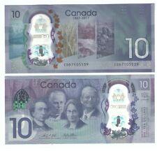 "Canada $10 ""150th Anniversary"" Commemorative Banknote unc 2017 Polymer"