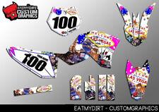Para KTM 50 2009-2015 kit completo personalizado de gráficos Pegatinas Calcomanías De Motocross MX