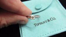 TIFFANY & CO~Lucida~Wedding/Engagement Platinum Band Rings Set~0.38 Diamond~H VS