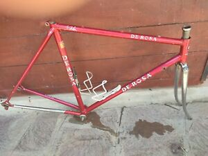 NO RESERVE 1980s Telaio De Rosa SLX frameset w/BB Campagnolo C Record 52x53 CTC