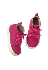 GAP Baby / Toddler Girl Size 6 NWT Pink Suede Lace-Up Desert Booties Boots Shoes
