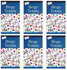 Tallon Bingo Card Book Pad with 600 Tickets Orange Yellow Pink Green Blue