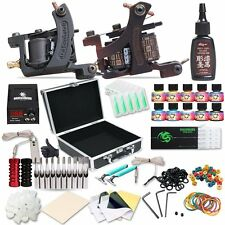 Dragonhawk Complete Tattoo Kit 2pcs Coil Tattoo Machine Tattoo Guns 10 Color ...