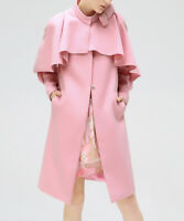 Pink Jacket Size 6 Retro Swing Coat Ladies Womens With Cape Collar And Pockets