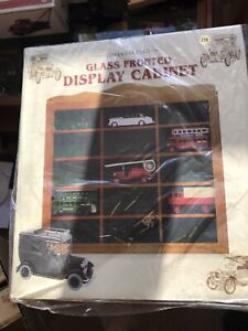 Glass fronted display cabinet for collectables models