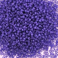 Miyuki Round Seed Beads Size 15/0 Dyed Opaque Purple 8.2g-Tube (15-1486)