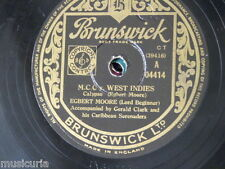 78rpm EGBERT MOORE mcc v west indies / RAYMOND QUEVEDO history of carnival