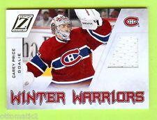 11-12 PANINI ZENITH WINTER WARRIORS CAREY PRICE JERSEY - TEAM CANADA
