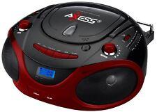 PORTABLE BOOMBOX MP3 CD PLAYER AM/FM RADIO USB INPUT  SD/MMC SLOT AUX INPUT NEW