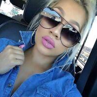 XL Aviator OVERSIZED Women Sunglasses Aviator Flat Top Square Shadz Glasses Key