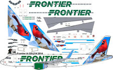 """Frontier Newest """"Cardinal"""" Airbus A320 airliner decals for Revell 1/144 kits"""