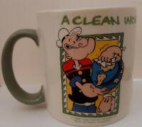 Popeye Starring At The MGM GRAND CASINO, LAS VEGAS, Ceramic Coffee Cup / Mug Vtg
