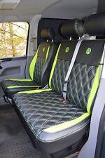 Volkswagen VW Transporter T5 Genuine Fit Van Seat Covers Black & Green Diamonds