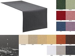 Tischläufer Tischband Fleckschutz LOTUS Effekt LEINEN Optik bügelfrei abwaschbar