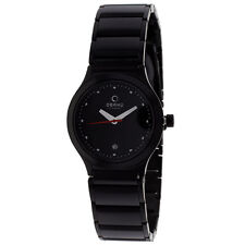 OBAKU HARMONY LADIES QUARTZ WATCH NEW BLACK IP BLACK BRACELET V115LBBSB