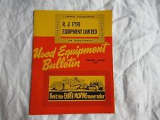 1966 International Caterpillar galion Adams used equipment catalog brochure