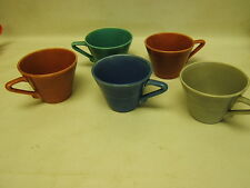 """Vintage Homer Laughlin lot of 5 Coffee/Tea Cups """"Harlequin"""" Pattern GUC"""