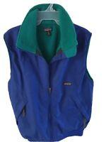 Patagonia Vintage Nylon Vest Blue/Green/Fleece Lined USA VTG Men's Size M