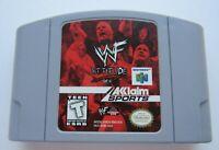 *GOOD* WWF Attitude Nintendo 64 N64 Retro Wrestling Video Game WWE NXT Super Fun
