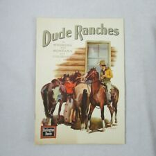 1948 Burlington Route Dude Ranches Brochure CB&Q Railroad Wyoming Montana Colo