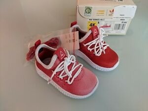 New 2017 adidas Originals Pharrell Williams PW Tennis Hu Red Size 4K Toddler