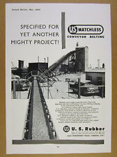 1958 St Lawrence Seaway Project US Rubber Conveyor Belting vintage print Ad