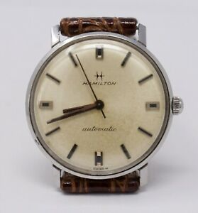 Vintage 1960s Hamilton Accumatic 510 Automatic Stainless Steel Watch 689a