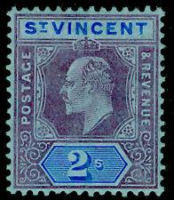 ST. VINCENT SG91, 2s purple & bright blue/blue, M MINT. Cat £23.