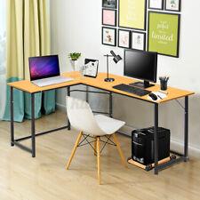 L-Shaped Corner Desk Computer Gaming Laptop Table Home Office Study Workstation