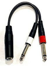 "B Stock 9in 1/4"" 1/4 Inch Stereo TRS Female to 2 X 1/4 Inch Male Mono Y Splitter"